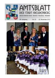 Amtsblatt Freudenberg - Ausgabe 22-2012 - STOPTEG Print & more