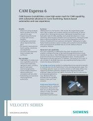 CAM Express 6 Fact Sheet - Geometric Solutions