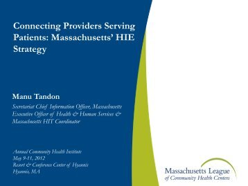 Health and Human Services - Massachusetts League of Community ...