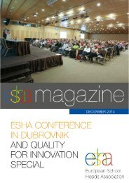An approach to excellence models in education (MT Group) - ESHA MAGAZINE December 2014