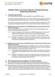 DAFNE 5 x 1 Curriculum Educator Training ... - Dafne - UK.COM