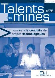 Formés à la conduite de projets technologiques - Ecole des mines ...