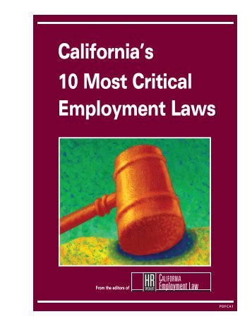 California's 10 Most Critical Employment Laws