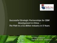 Successful & Strategic Partnerships for CBM Development in China