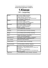 1.Klasse - HS-Langschlag