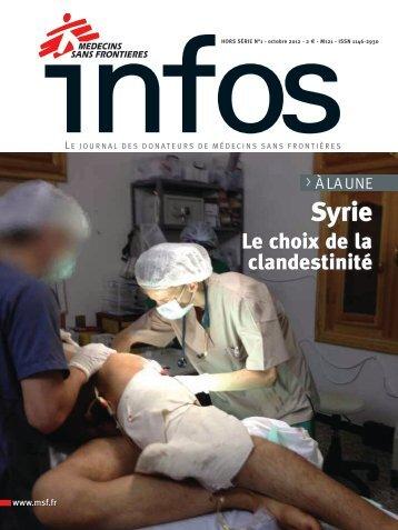 Le choix de la clandestinité en Syrie - Médecins Sans Frontières
