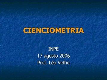 CIENCIOMETRIA - Inpe