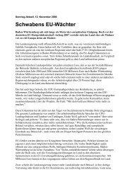 Schwabens EU-Wächter - Uwe Roth