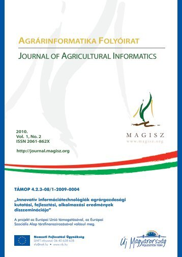 The issue in pdf format, Vol 1, No 2 - Journal of Agricultural Informatics