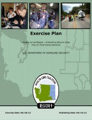 Exercise Plan - Disaster Resistant Communities Group