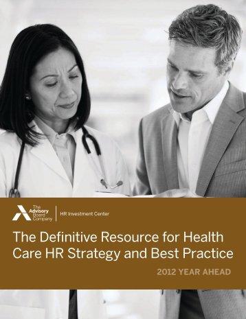 HRIC Year Ahead 2012 - Ontario Hospital Association