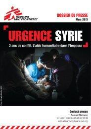 Deux ans de conflit en Syrie - Médecins Sans Frontières