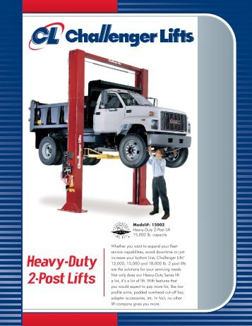 Heavy-Duty 2-Post Lifts - NY Tech Supply