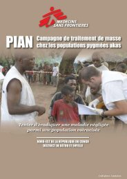 Campagne de traitement de masse chez les populations pygmées ...