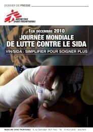 Journée mondiale de lutte contre le sida 2010 - Médecins Sans ...