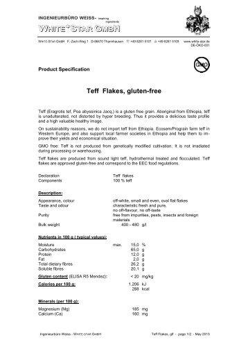 teff flakes (pdf) - White-star.de