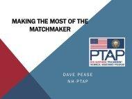 Preparing for the Regional Matchmaker