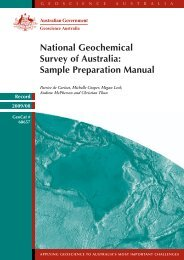 National Geochemical Survey of Australia; sample preparation manual