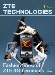 Fashion Show of ZTE 3G Terminals