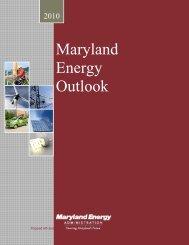 Maryland Energy Outlook Document.