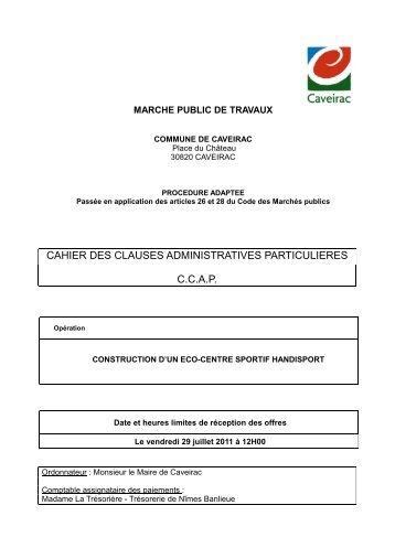 CCAP travaux - Mairie de Caveirac