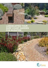 Landscaping your surf coast garden for Bushfire - Surf Coast Shire