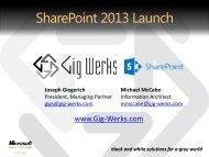 SharePoint 2013 Launch Presentation.pdf - Gig Werks