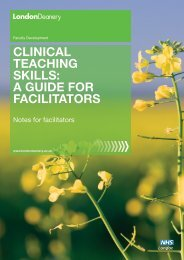 A GuIdE for fACILITATorS - Faculty Development - London Deanery