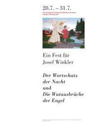 Ein Fest für Josef Winkler - KI 08/16
