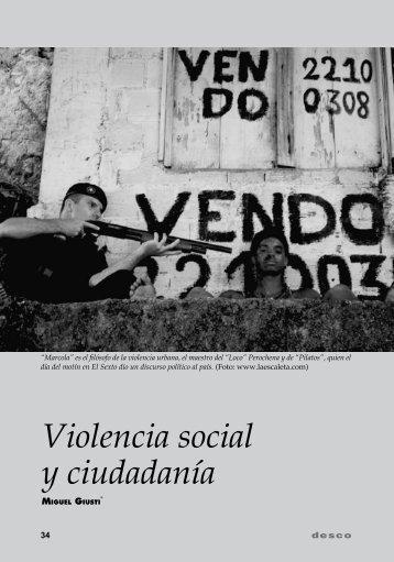 Violencia social y ciudadanía - Desco