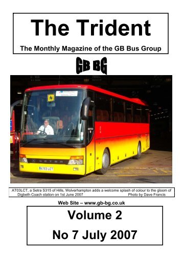 Volume 2 No 7 July 2007 - GB Bus Group