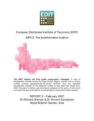 European Distributed Institute of Taxonomy (EDIT) WP3.3: The ...