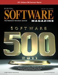 2011 Software 500 Electronic Reprint - Software Magazine
