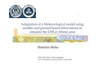 Practical examples of the use of Meteorological models and RS ...