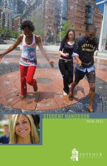 STUDENT HANDBOOK - Suffolk University