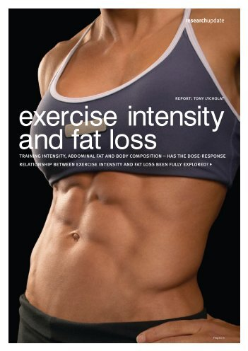 exercise intensity and fat loss