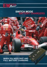 SWITCH MODE BATTERY CHARGERS - Emtech Power A/S