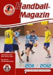 Handball-Magazin Saison 2011/2012 - TSG Münsingen Handball