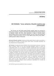 ION VEZEANU - Societatea Română de Filosofie Analitică