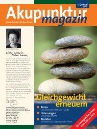 Akupunkturmagazin 1. Quartal 2011 - Traditionelle Chinesische ...