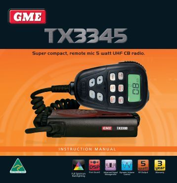 gme tx6100 instruction manual