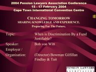Discrimination - Pension Lawyers Association of South Africa