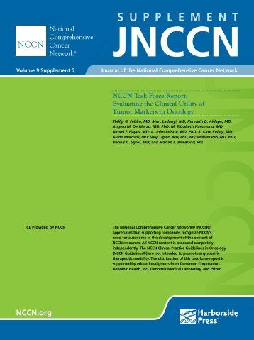 Task Force Supplement - National Comprehensive Cancer Network
