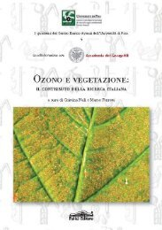 Ozono e vegetazione: il contributo della ricerca italiana - Enrico Avanzi