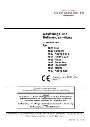 Aufstellungs- und Bedienungsanleitung - ORANIER Heiztechnik
