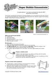 Super Bubble Concentrate - Prof Bunsen