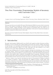 Two New Uncertainty Programming Models of Inventory with ...