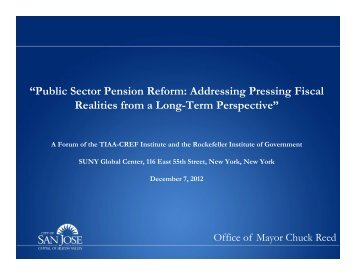 """Public Sector Pension Reform: Addressing Pressing Fiscal ..."