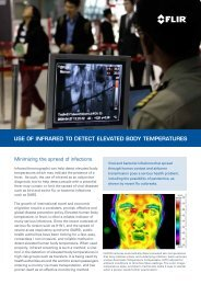 Use of Infrared to detect elevated Body temperatUres - FLIR Systems