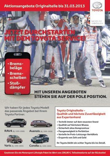 Jetzt durchstArten Mit deM toyotA service! - Autohaus Bach